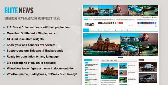Best Responsive Magazine WordPress Theme 2015