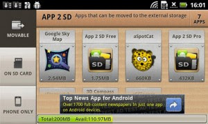 how to use app2sd
