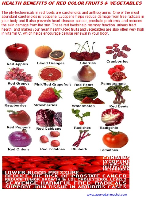 What are the benefits of red fruits and vegetables ...