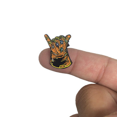 "Marvel's Thanos & the Infinity Gauntlet Inspired ""Infinity Shaka"" Enamel Pin by Lightsleepers"