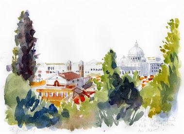 Rome depuis le Pincio