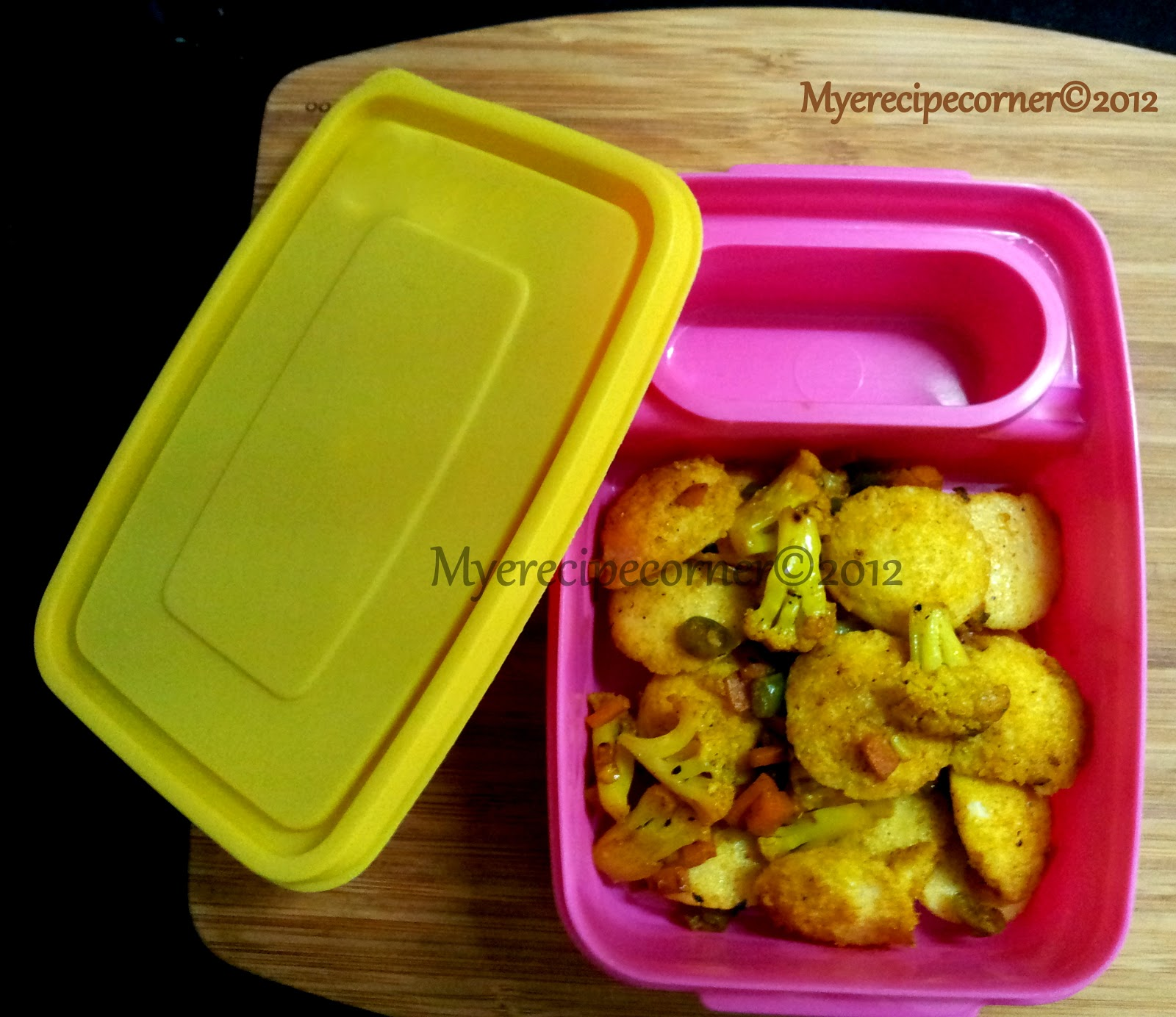 Mye\'s Kitchen: Mini Idli Vegetable Masala- Kids Lunch box recipes ...