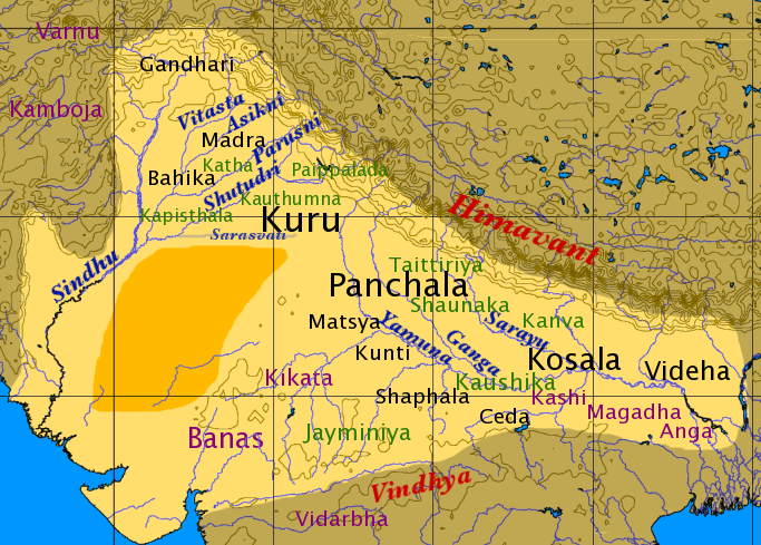 map of india during vedic period