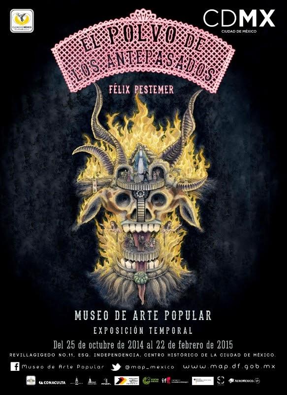 Ilustrador alemán homenajea tradición mexicana del Día de Muertos en el Museo de Arte Popular
