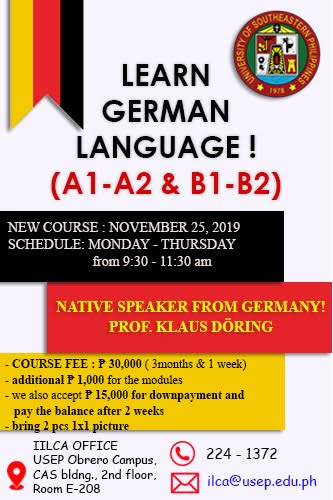 Deutsch lernen in Davao City! Learn the German Language in Davao City!