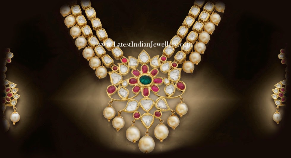 Polki Diamond Gold Necklace