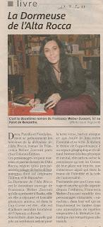 publication de Francesca Weber-Zucconi 'La dormeuse de l'Alta Rocca'