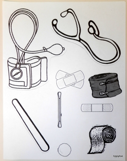 kids coloring pages doctor kit - photo#7