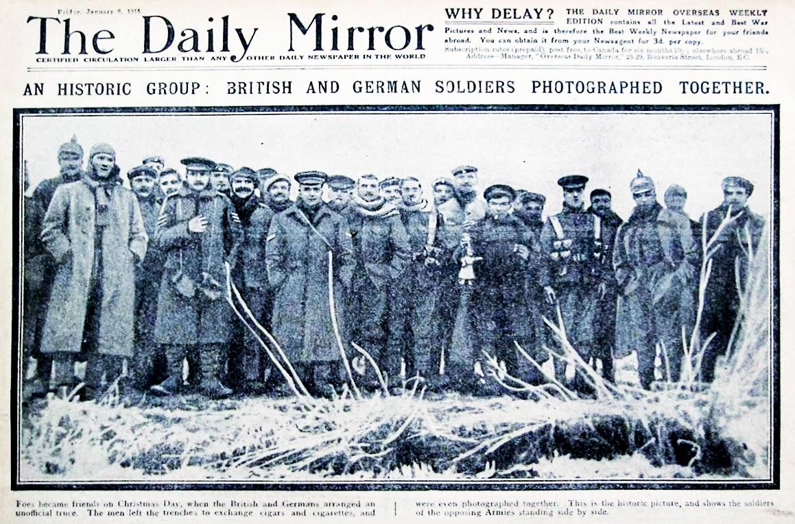 La Tregua de Navidad de 1914 Primera Guerra Mundial  GRANDES