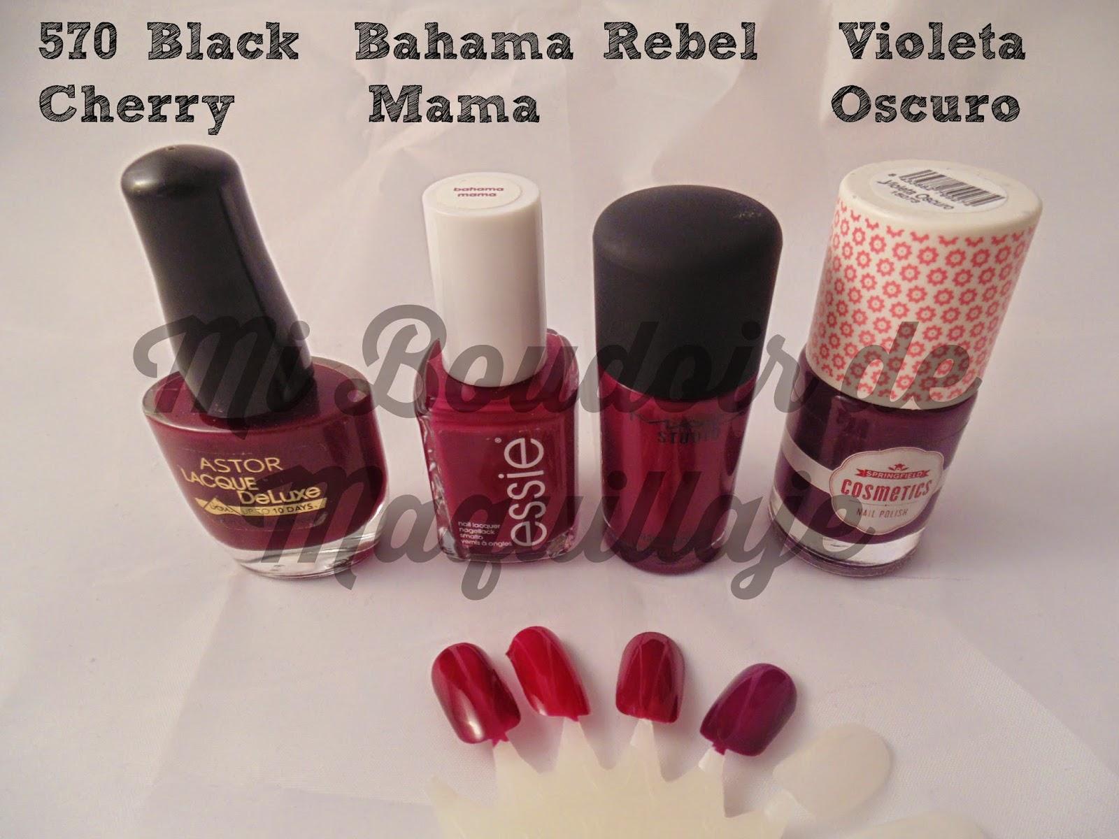 Essie, Astor, Mac, Springfield nails uñas, laca de uñas