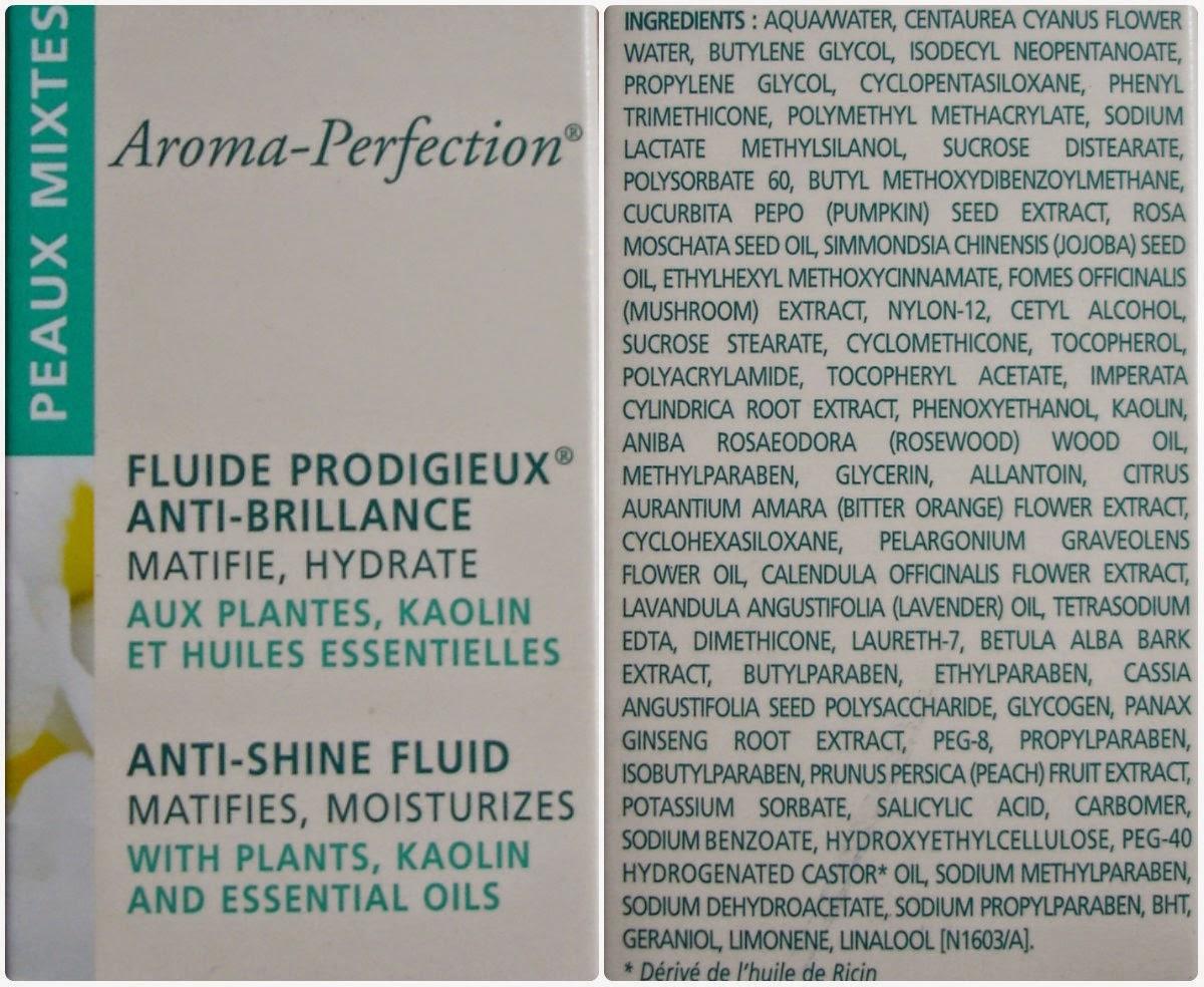 Nuxe Aroma-Perfection Anti-Shine Fluid состав
