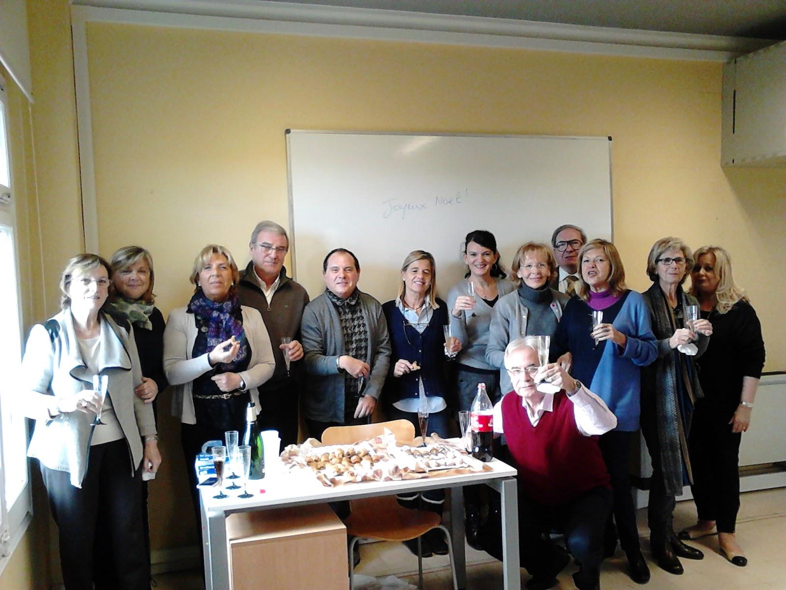 les élèves de français du cours de Sarrià