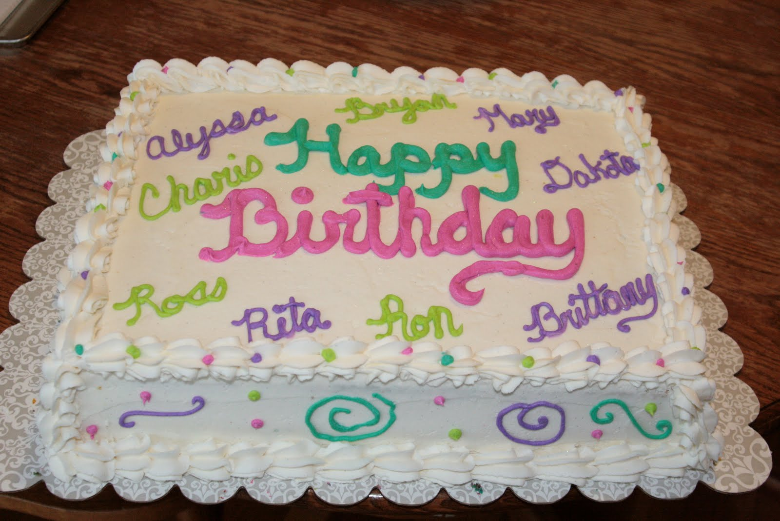 The Sweetest Things Cousins Cake