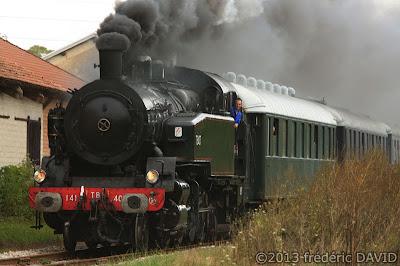 train vapeur campagne circulation vintage locomotive 141 TB 407 AJECTA Vimpelles Seine-et-Marne