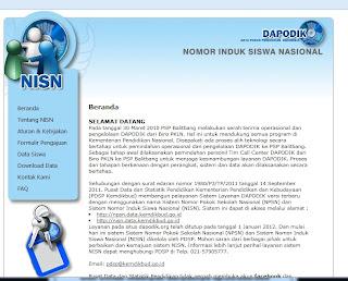Langkah - Langkah Membuat NISN Siswa Baru