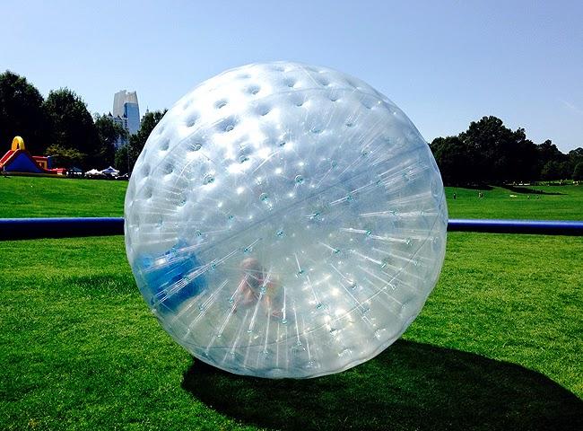 Human Hamster Ball, Atlanta Ice Cream Festival, Piedmont Park