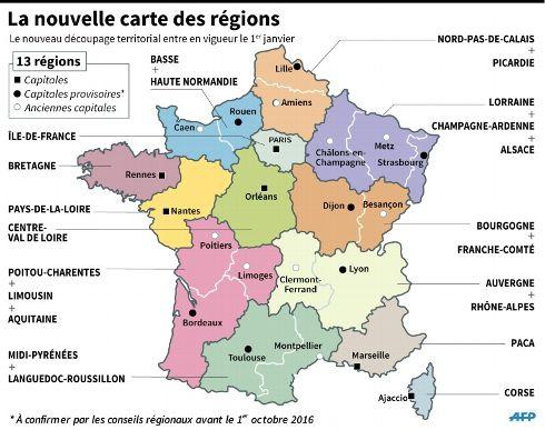 À toi de découvrir !: Les régions de France avant et après le 1er janvier 2016