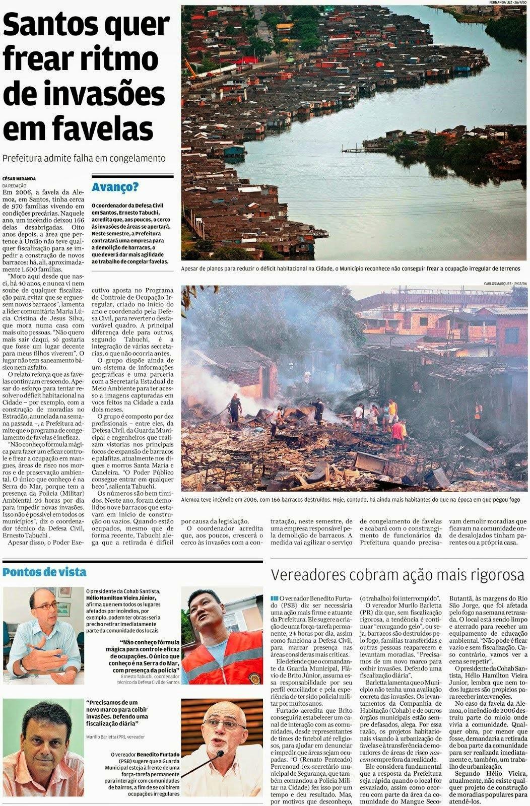 Santos quer frear ritmo de invasões em favelas