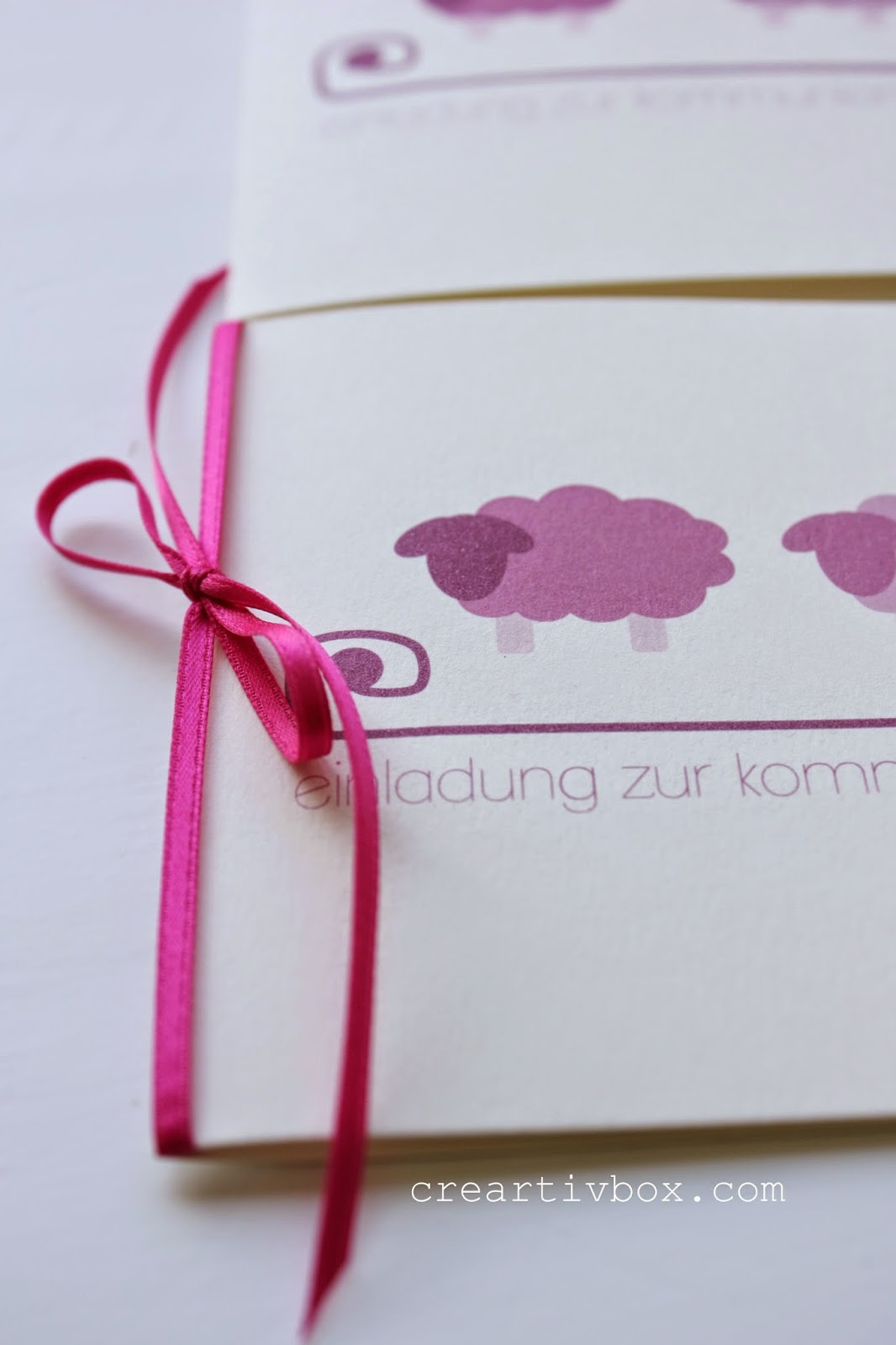 creartiv.box: Rosa Wölkchen-Schafe
