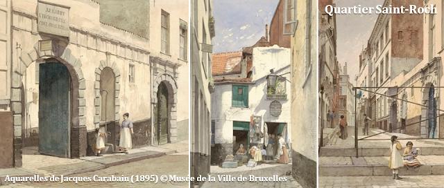 Mont des Arts - Bruxelles disparu - Quartier Saint-Roch - Bruxelles-Bruxellons