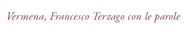 Vermena, Francesco Terzago con le parole