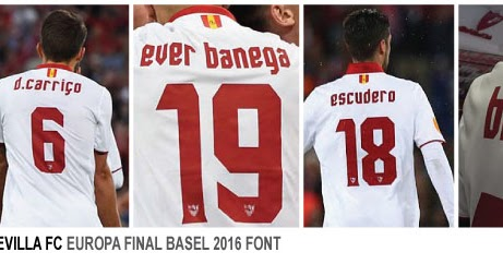 Teams Shirt And Kits Fan Sevilla  Europa League Final Font