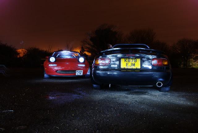 Mazda MX-5 NA, kultowy roadster, eunos, miata, fotki aut w nocy