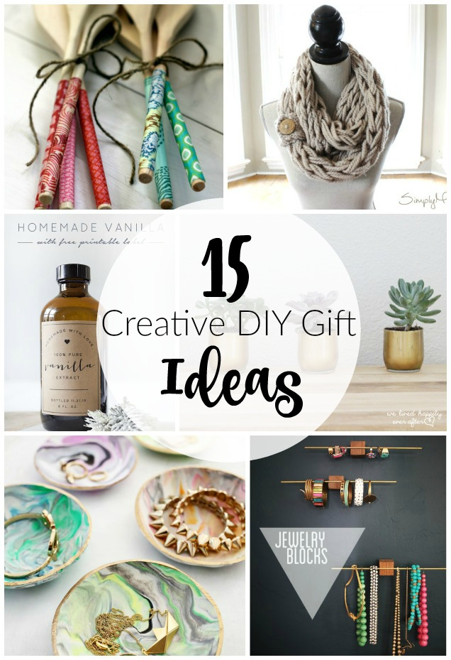15 creative diy gift ideas little house of four for Unique ideas for christmas gifts