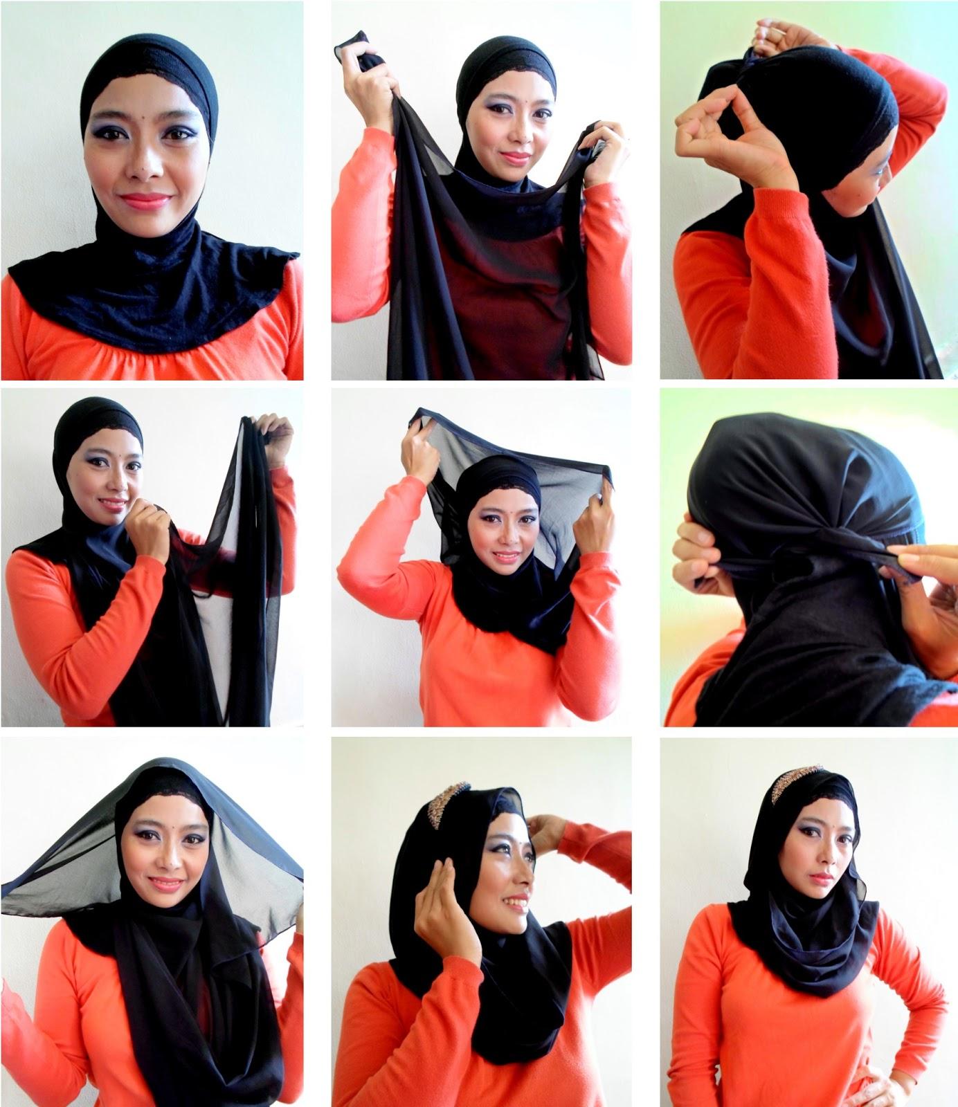 23 Gambar Terbaru Tutorial Hijab Velvet Pashmina Tahun Ini