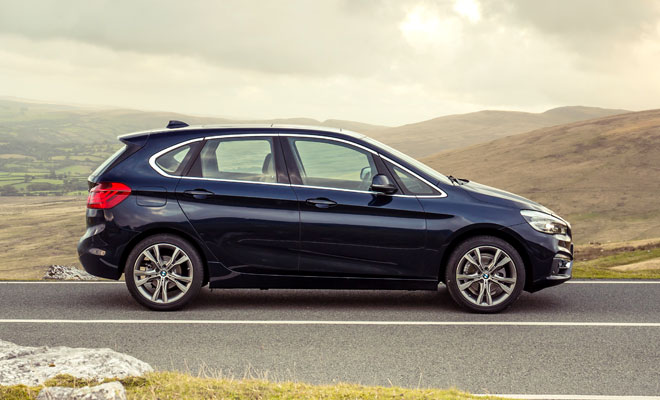 BMW 218d Active Tourer side view