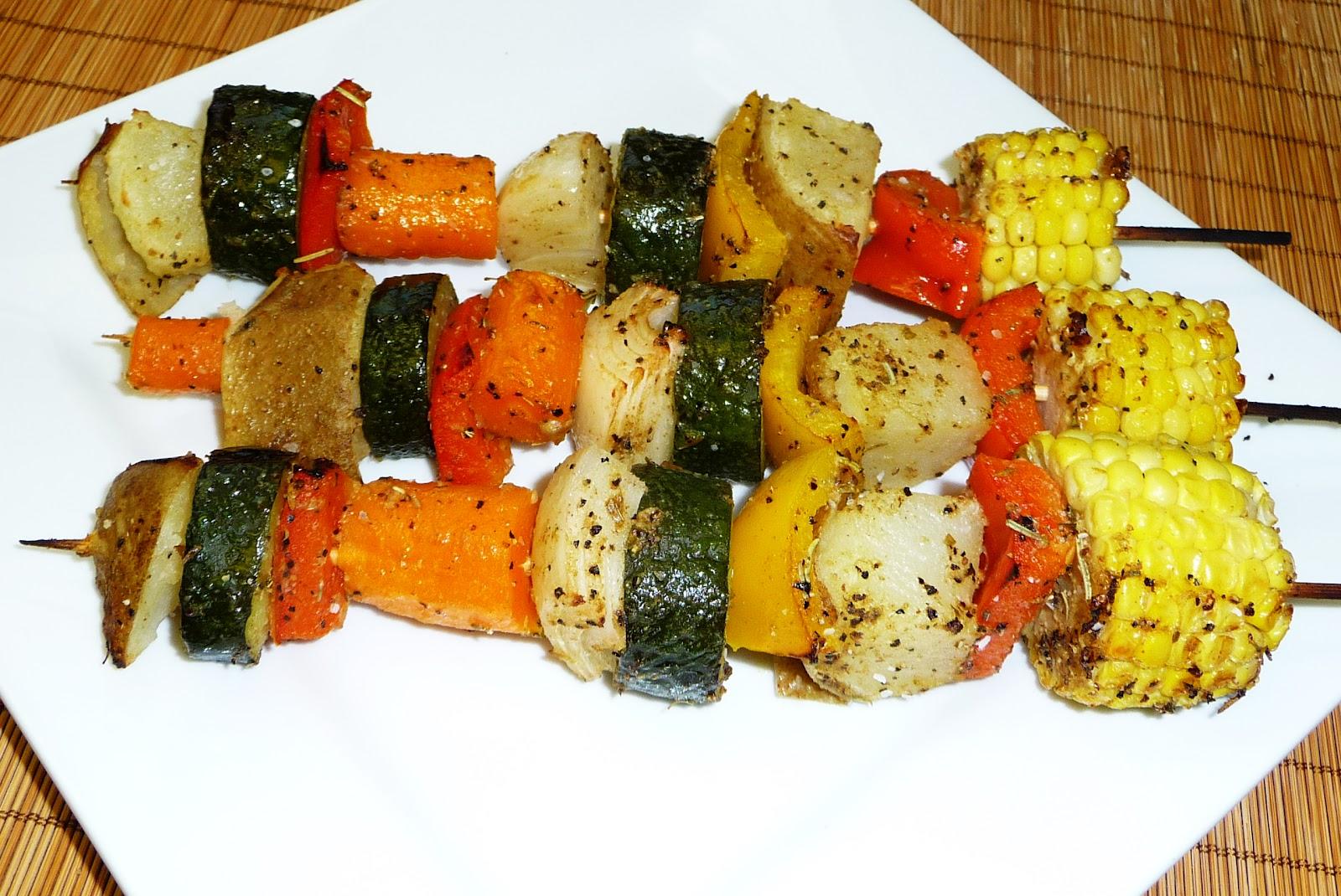 Brochetas vegetarianas cocina facil - Comida vegetariana facil de preparar ...
