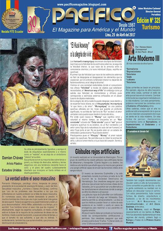 Revista Pacífico Nº 325 Turismo