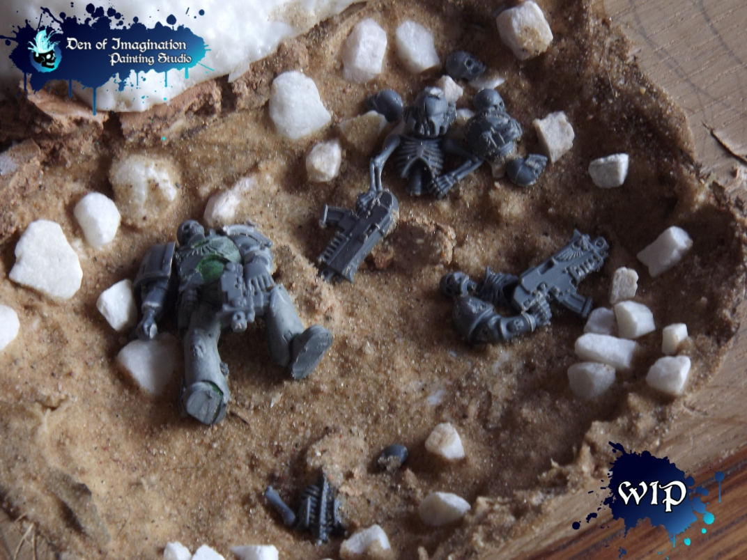 new products b15ab f4508 Before any models arrived, I already started working on the display base.  Here are Ultramarine corpses. Some of you probably saw this on my Facebook.