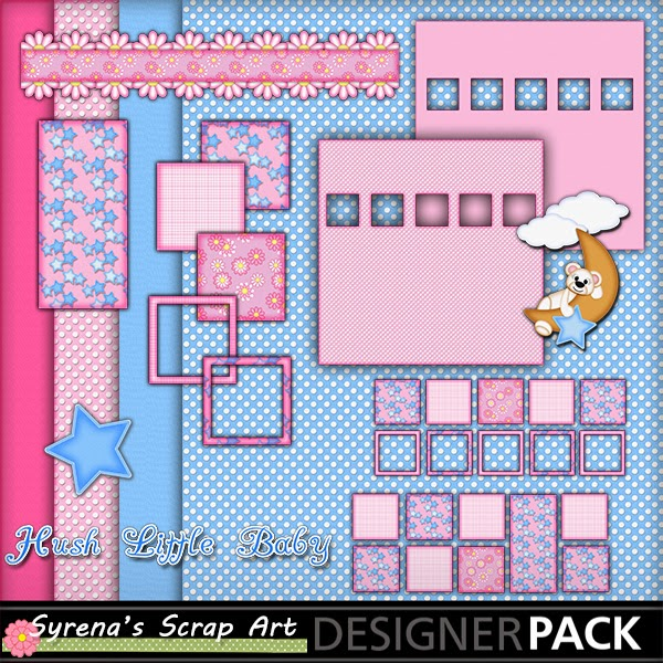 Hush Little Baby Digital Scrapbook Kit