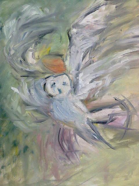 pintura al oleo de pajaro