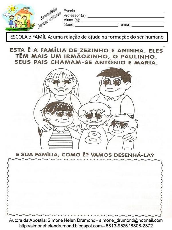 Simone Helen Drumond Dia Da Familia 42 Atividades 8 De