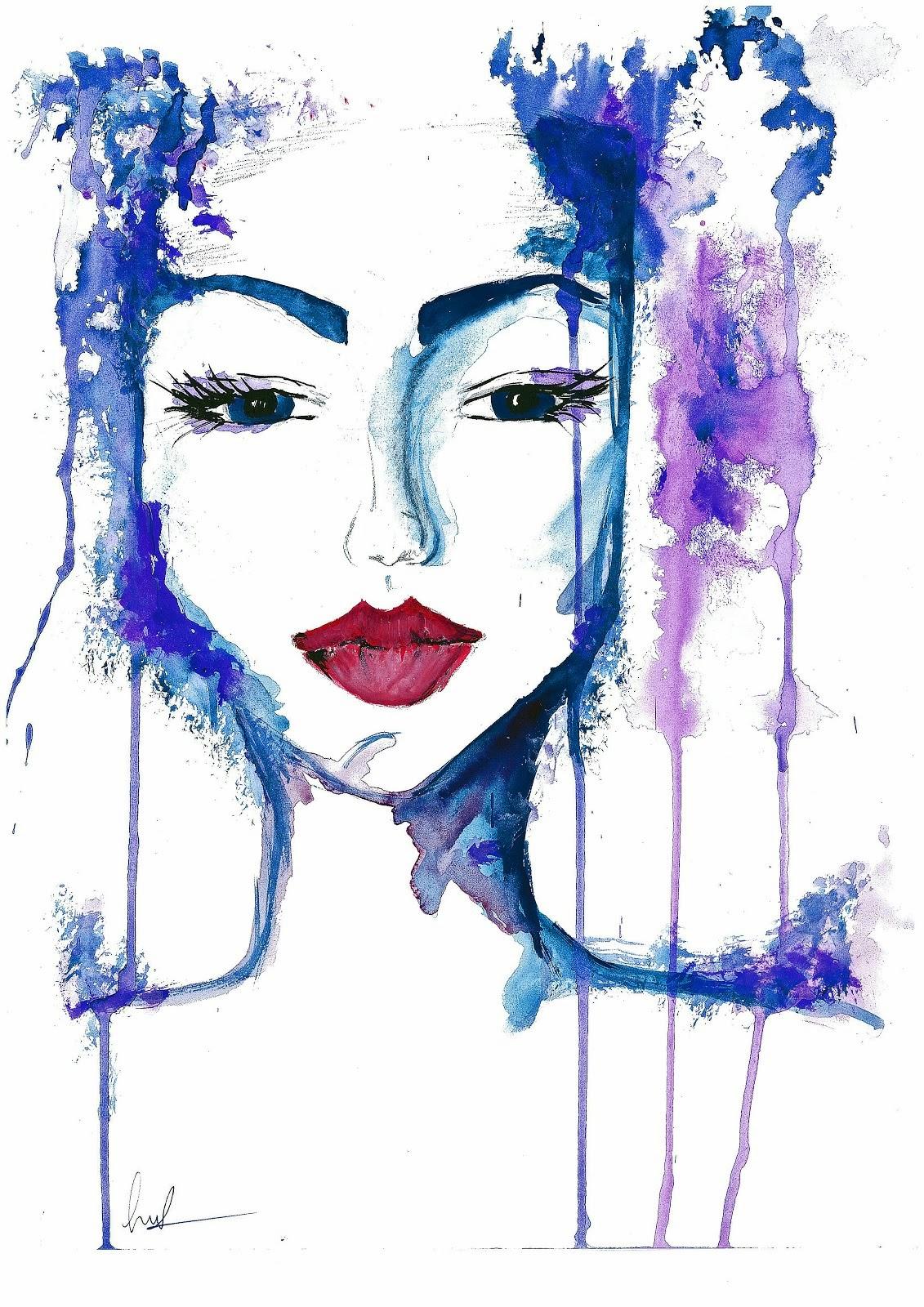Damen blå
