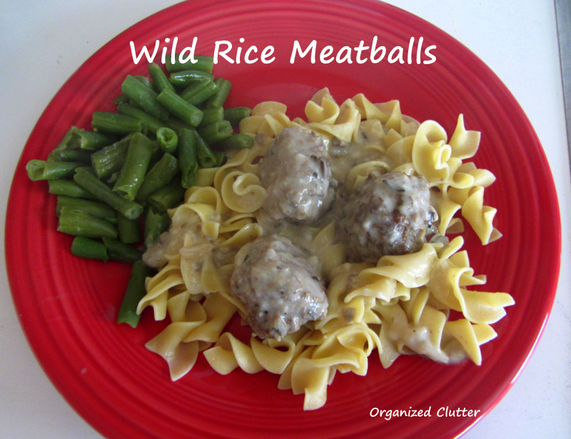 Wild Rice Meatball Recipe www.organizedclutterqueen.blogspot.com