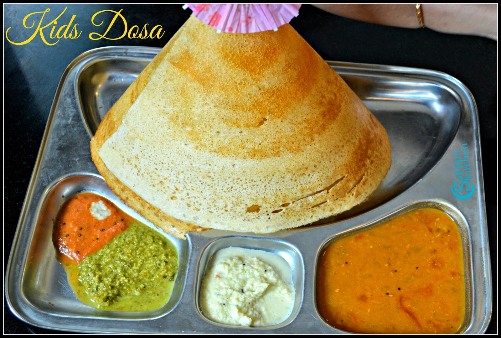 Homemade Ghee Roast Dosa Recipe | Kids Dosa Recipe