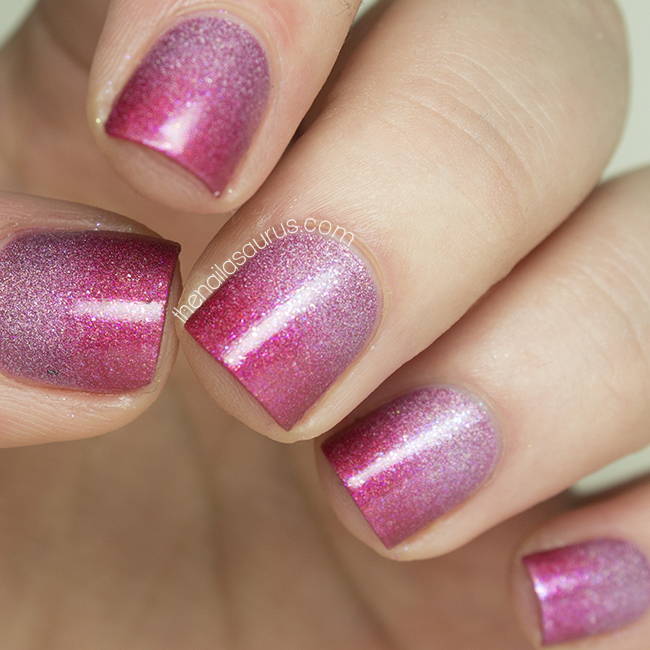 Gradient Nail Art: Valentine's Day Holographic Gradient Nail Art