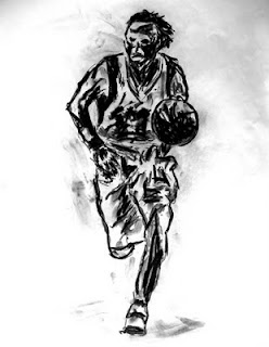 basketball art, basketball image, sport art, artist John Robertson