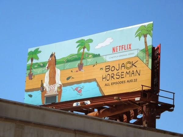 BoJack Horseman series premiere Netflix billboard
