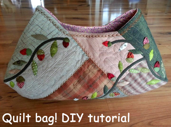 Free Patterns For Quilted Bags And Purses : Quilt Bag tutorial. ~ DIY Tutorial Ideas!