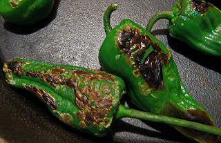 Closeup of Peppers Frying