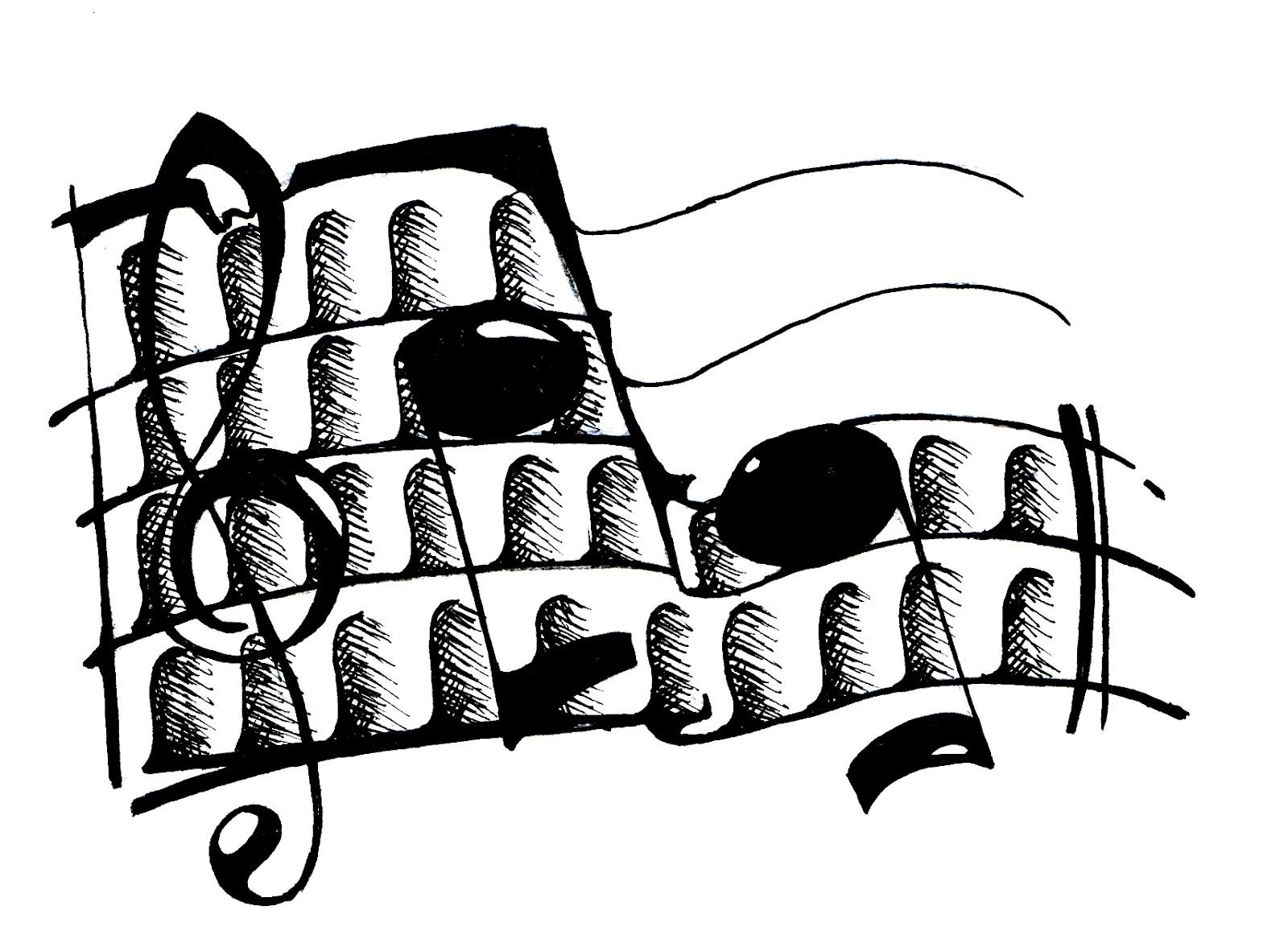 Strumenti musicali da disegnare images frompo - Note musicali da colorare pagina da colorare ...