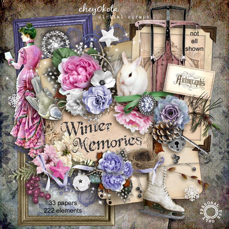 Winter Memories Freebie Cluster Frame