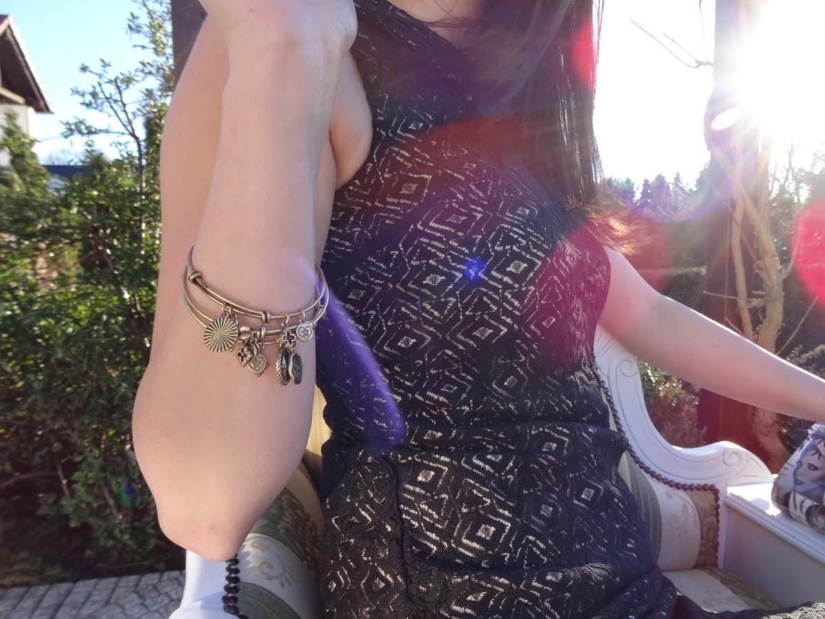 Fashion Post bangles and dress