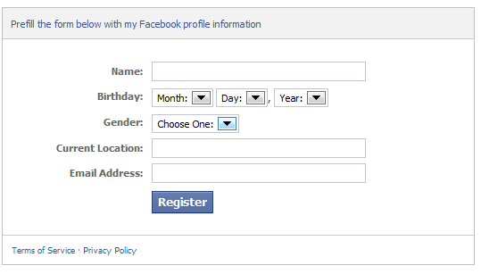Facebook Registration Plugin