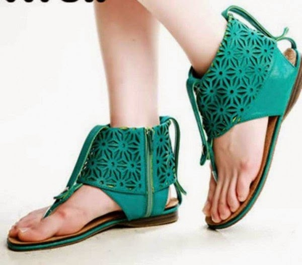 Beautiful and New Style Green Flat Sandal