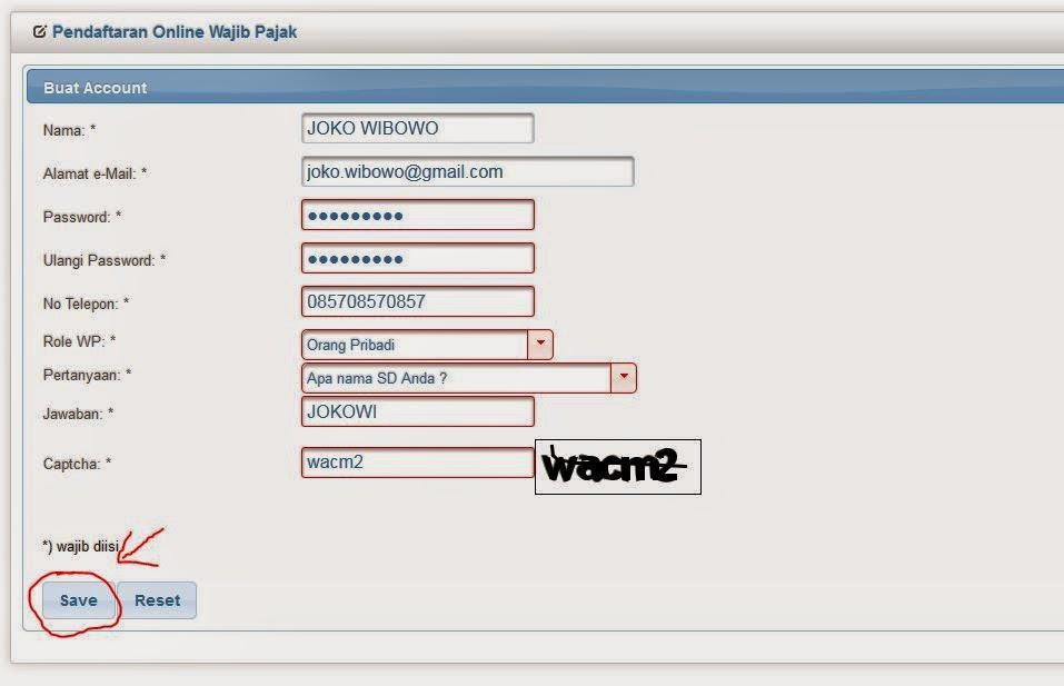 Langkah 2 Cara Membuat NPWP Online